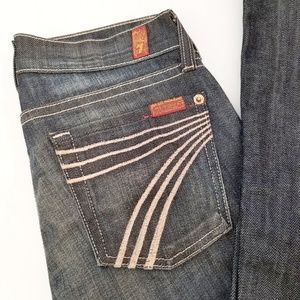 7 For All Mankind Dojo Wide Leg Flare Denim Jeans